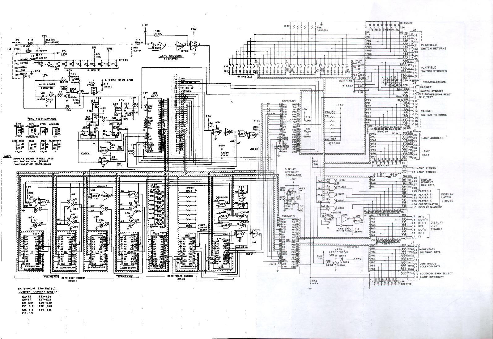 Gottlieb Pinball Machine Schematics Automotive Wiring Diagram Diagrams Internet Database Stern Quicksilver Rh Ipdb Org Bally