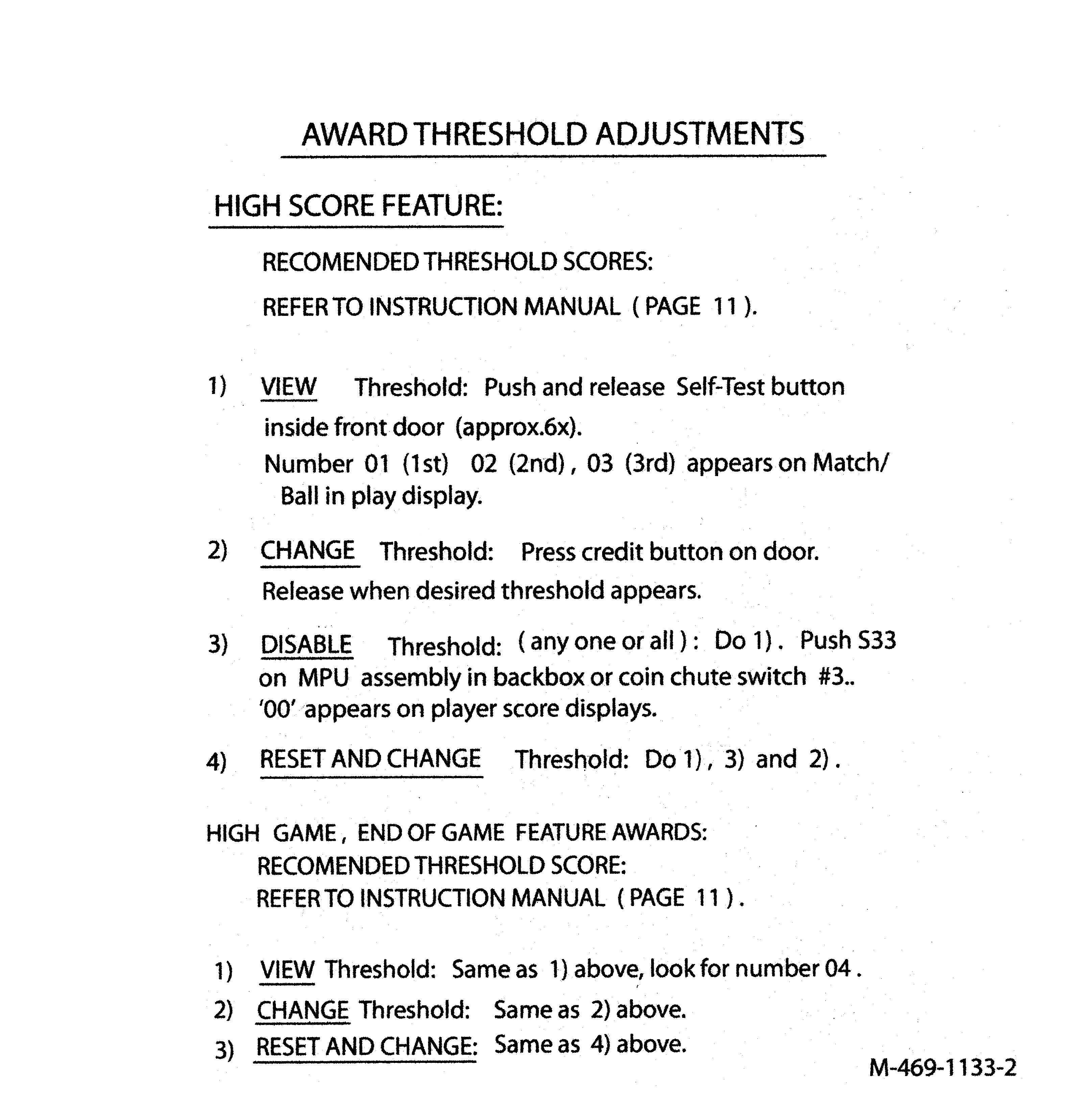 Internet Pinball Machine Database: Bally \'Vector\'