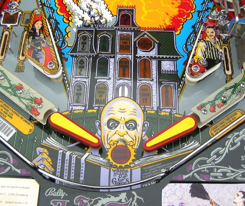 The Addams Family Playfield - Detail