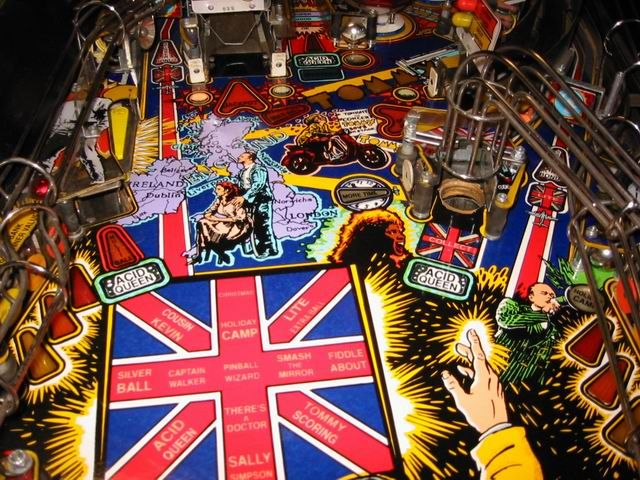 The Who's Tommy Pinball Wizard Middle Playfield
