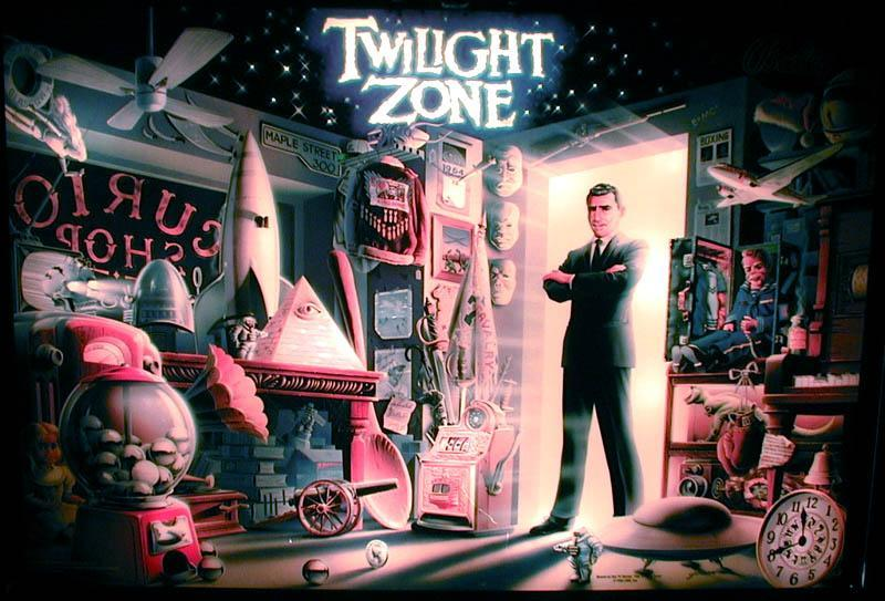 Twilight Zone Backglass (Better Color Quality)
