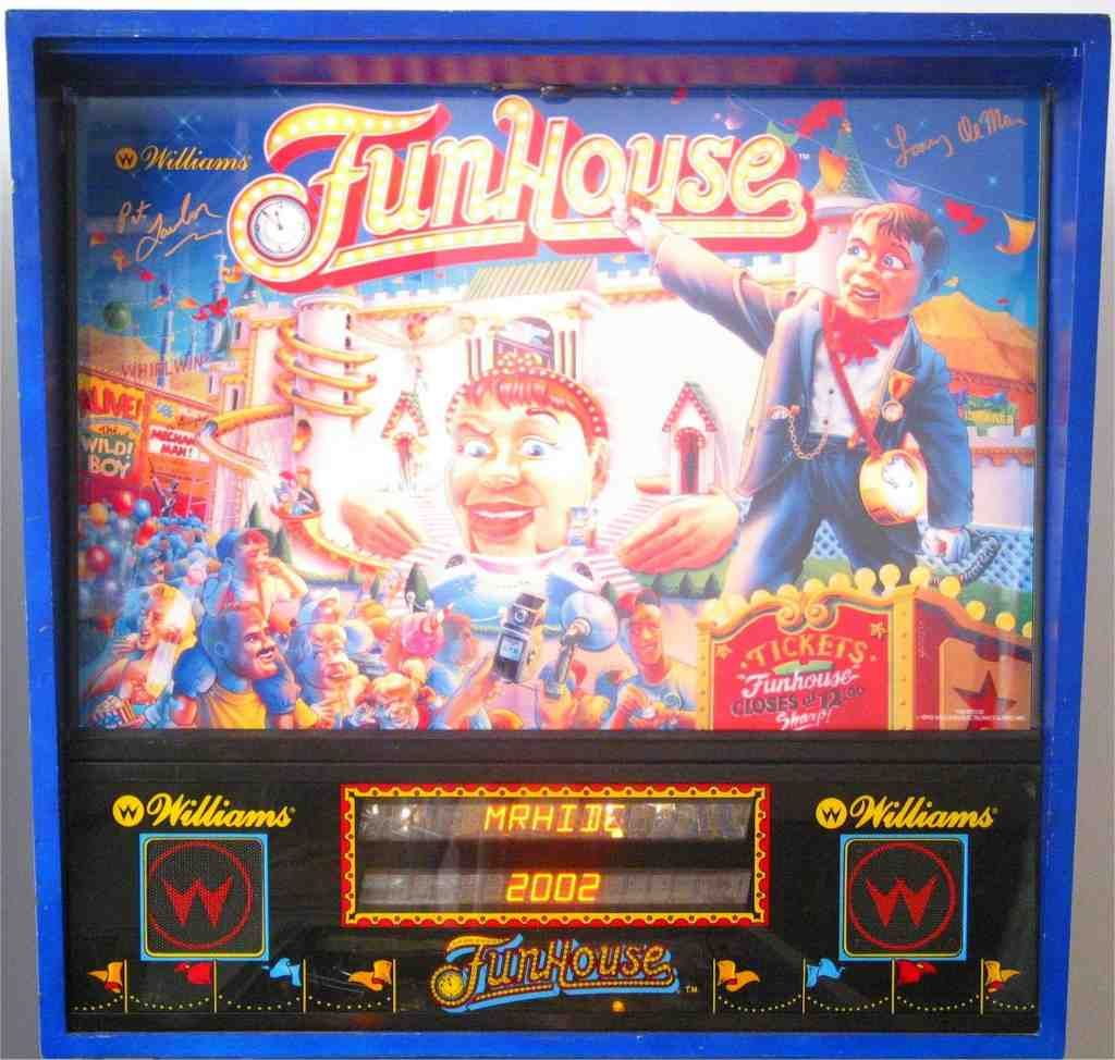 Funhouse Autographed Backglass
